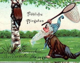 Frohliche Pfingsten Postcard Dated 1906 Berlin Germany