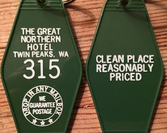 "On Sale! Twin Peaks Inspired ""GREAT NORTHERN hotel keychain"