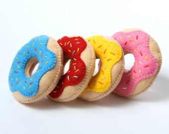 Donut Toy, Felt Donut, Set of Toys Donuts