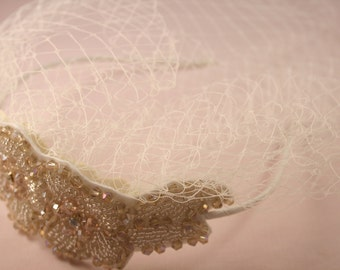 Pearl and Bead Bird Cage Veil