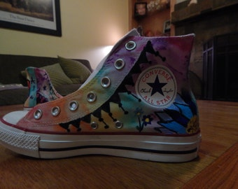 Custom Painted Converse/ Canvas shoes