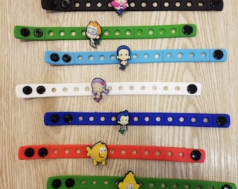 10 Bubble Guppies Silicone Bracelets Party Favors