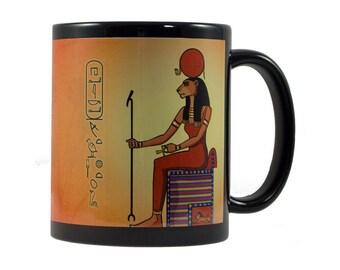 Sekhmet (Sekhmet) Cup - customizable with name in hieroglyphs