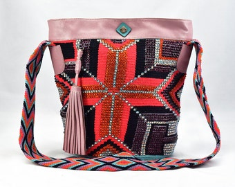 Luxury Mochila Bags with Leather and Crystals - Istanbul - Passion