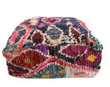 Moroccan Boucherouite Pouf, Floor Cushion, Rug Pouffe, Vintage Pouf, Floor Pillow