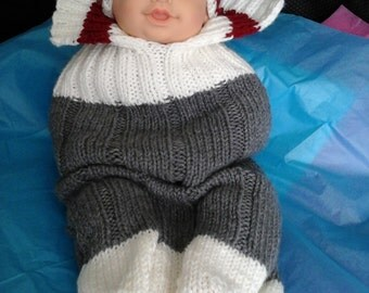 Newborn  Worksock Baby Cocoon and Hat Set.