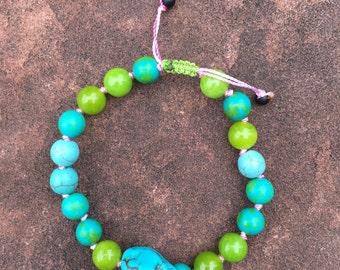 Turquoise + Agate + Aventurine Bracelet