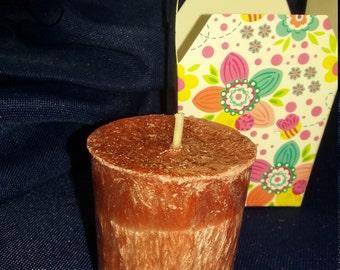 Palm Wax Votive--Mulberry Scent