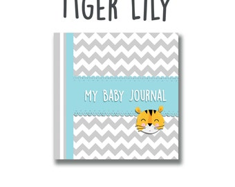 My Baby Journal Tiger Lily