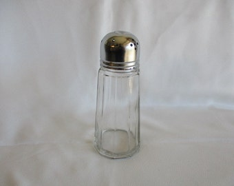 Vintage Silver Plate and Glass Sugar Shaker