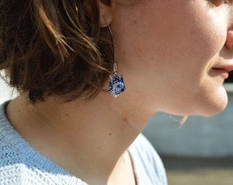 Earrings Lotus Flower Origami