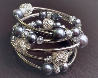 Wire Wrap Beaded Bracelet