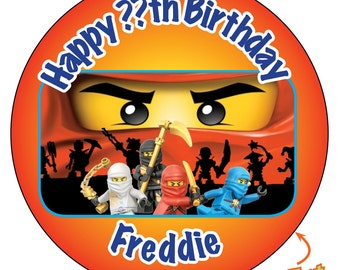 Personalised Ninjago eyes Kids Party Bags Happy Birthday Stickers - Pin Badge - Fridge Magnet - Bottle Opener - Handbag Mirror - 630