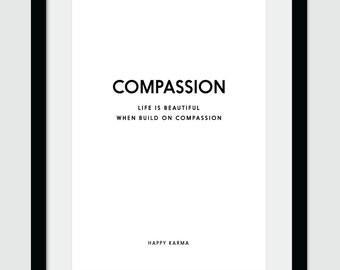 Compassion, Wall Art, Printable Art, Printable Decor