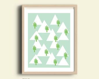 Winter print, printable christmas poster, Christmas decor, kids room, winter decor, Christmas gift, wall art, home decor, Christmas print