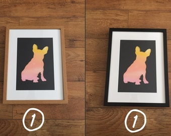 Frenchie Silhouette Print