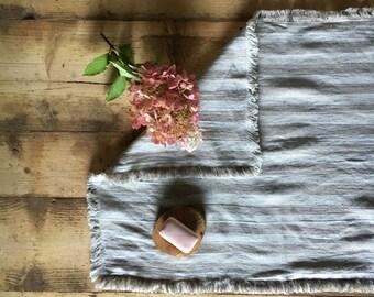 Bath Mat, Linen Bath Rug, Shower Mat, Bathroom Mat, Striped Mat, Linen mat, Bathroom Rug, Linen Rug, Bath Matt, Double layered Feet Towel