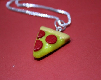 Pepperoni Pizza Necklace