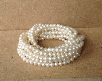 Unusually long 100 inch* Vintage Danish Fresh Water Pearl Necklace Excellent Condition
