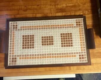 Vintage Mosaic Tiled Serving Tray