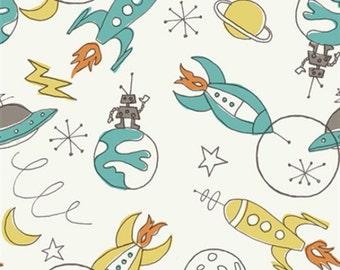 Birch Fabric by the yard - Circa 52 - Space - 100% GOTS Organic Cotton Fabric by Monaluna from Birch Fabrics