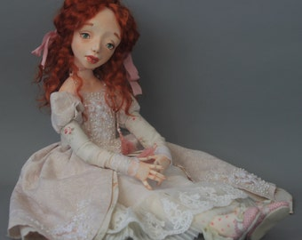 Author's dolls maid of honor Rose, авторская кукла фрейлина Роза