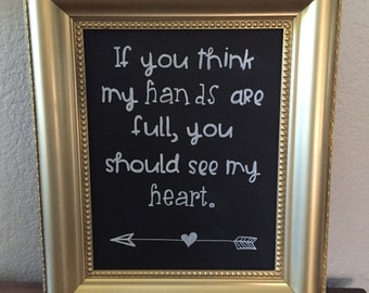 "Full Heart: Framed Design - Large 15"" X 19"""