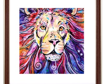 Lion Art Print - The Chief Larger Prints
