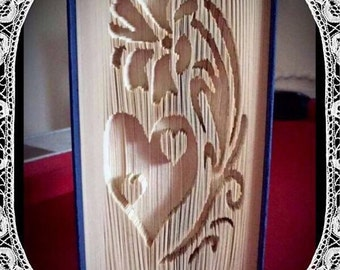 I Believe in Love Book Folding Art Pattern Valentines Birthday Wedding Gift