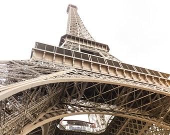 Eiffel Tower/Paris France/Eiffel Tower Upshot/Paris Photography/Eiffel Architecture/Minimalist Art/Tall Structure/Eiffel Tower Details