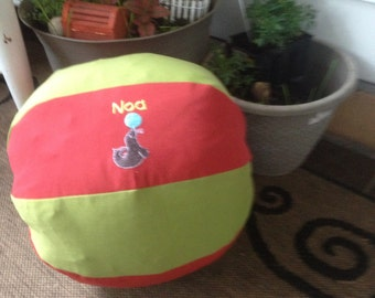 Personalized Fabric Covered Beach Ball