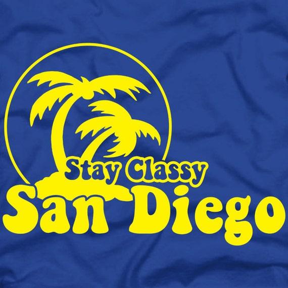 Stay classy san diego anchorman tshirt rob by unrulytshirts for T shirt screen printing san diego