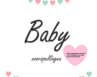 Baby shower cards! 10 per set