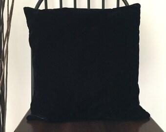 Black Velvet Decorative Cushion