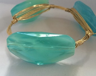 Green and blue bangle free shipping