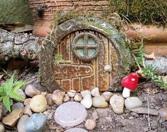 Fairy Door, Gnome Door, Fairy Garden Accessory, Fairy Garden Kit, Terrarium Kit, Wooden Hobbit Door, Fairy Tree Door, Miniature Garden Door