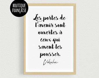Poster Coluche - Quote from motivation at work and in life - Poster A3 or A4 of the french comic
