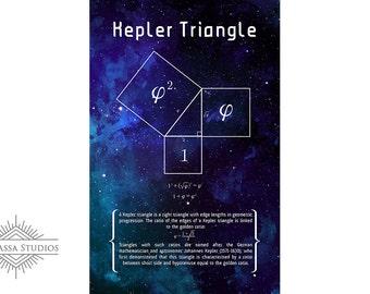 Math Poster, Kepler Triangle, Printable Poster, Maths, Education