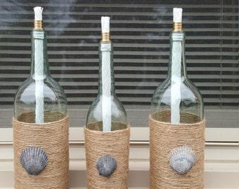 3pc set wine bottle Tiki Torch