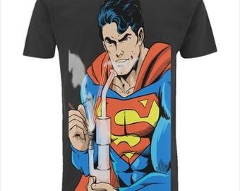 Superman Dab Edition T-Shirt... 420 Clothing by Count Dabula