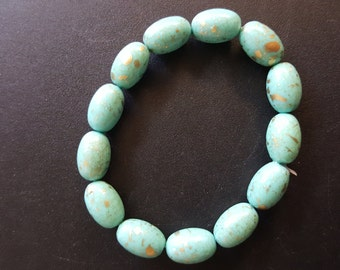 Turquoise distressed bracelet