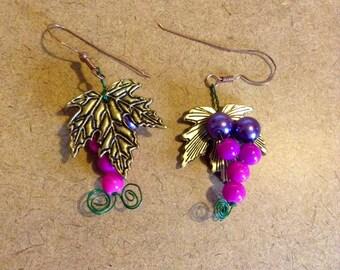 Grape Earrings