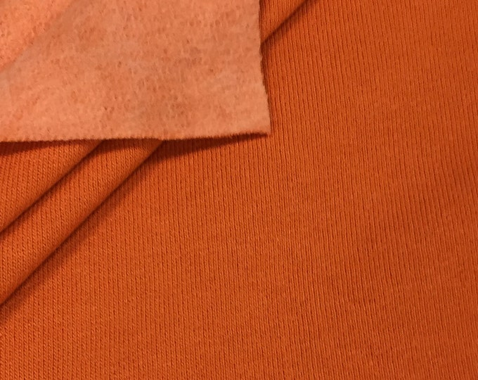 Soft Fleece Fabric By the Yard (Wholesale Price Available By the Bolt) USA Made Premium Quality - 6005CF Harvest Orange - 1 Yard