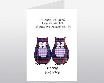 Friend Birthday Card Owls WWBI08