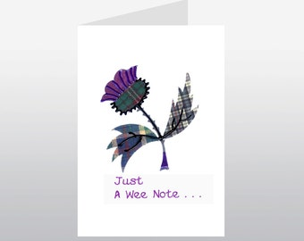 Scottish Greetings Card Large Thistle WWGR07