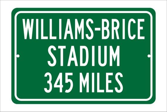 Custom College Highway Distance Sign to Williams-Brice Stadium | Home of the South Carolina Gamecocks |  Gamecocks Football |