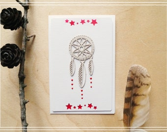 "Card ""Dreamcatcher"" 2/Handmade card/Scrapbooking card/Greeting card/Card for any occasion"