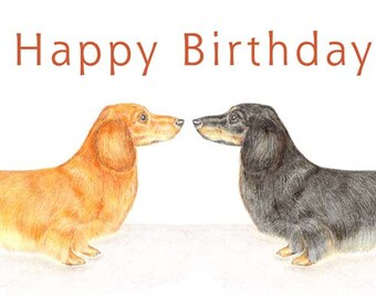 Duke and Duchess the Dachshunds- Birthday Cards