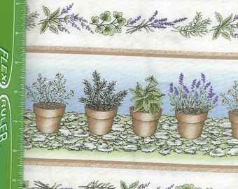 Lavender,Thyme For Friends ,Herb Garden on natural Border,Maywood Studio