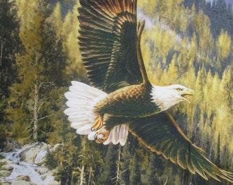 Majestic outdoors, Eagle panel,Penny Rose fabrics